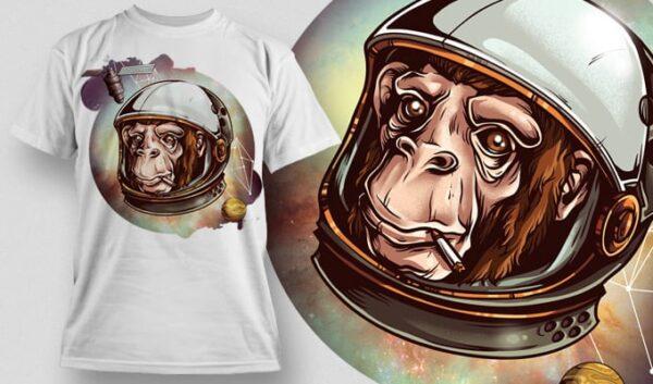 Cosmic Chimp T-shirt designious cosmic chimp tshirt mockup