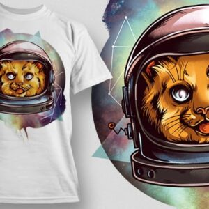 Home designious cosmic kitty tshirt mockup