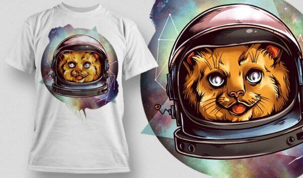 Cosmic Kitty T-shirt designious cosmic kitty tshirt mockup