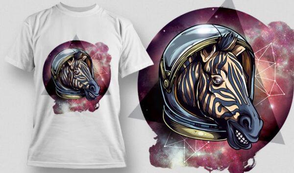 Cosmic Zebra T-shirt designious cosmic zebra t shirt mockup