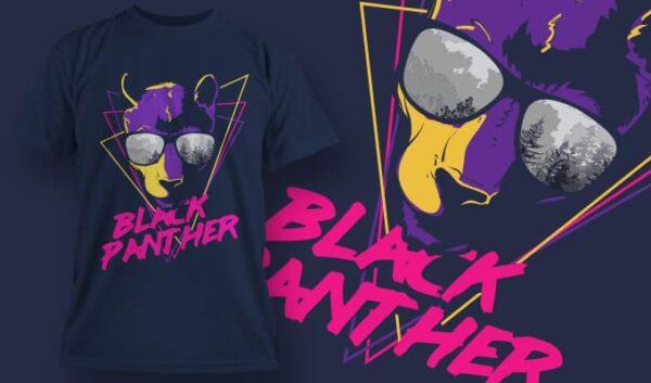 Black Panther T-shirt designious tshirt design 1355
