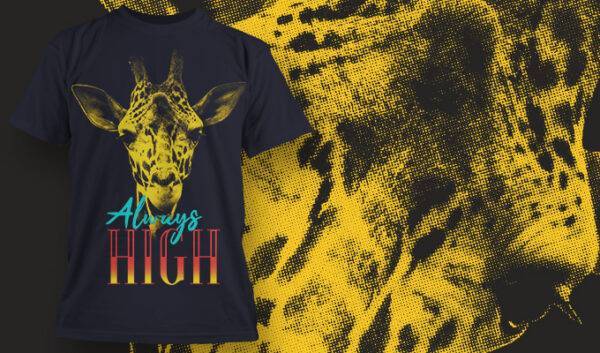 Always High T-shirt designious tshirt design 1625